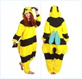 Adult Women Men Bee New Costumes Cartoon Honeybee Onesies Cosplay Pajamas Sleepwear Winter Pyjamas Anime Show Christmas Party