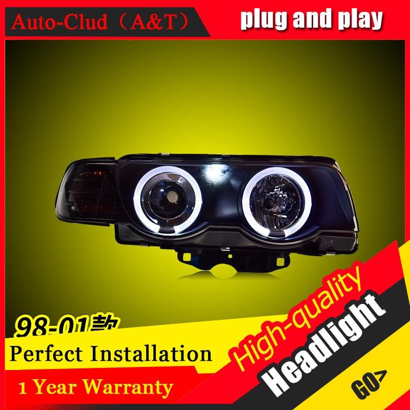 Auto Clud Car Styling Pour BMW E38 phares 1998-2002 Pour E38 tête lampe led DRL avant Bi- lentille xénon Double Faisceau HID KIT