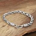 Wholesale silver jewelry manufacturers S925 Mens Fashion Silver Silver BRACELET HANDMADE coarse twist 7M