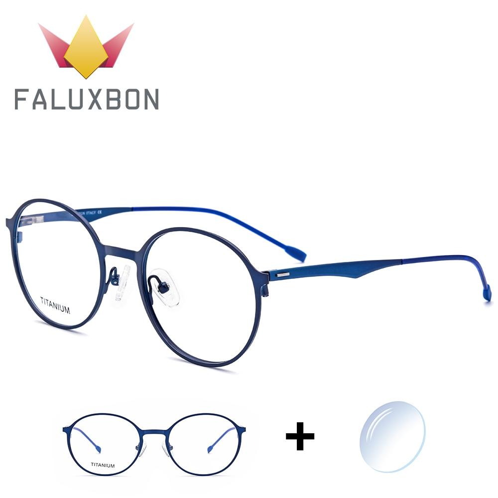 Round High Quantity Retro Myopia Prescription Glasses Men Titanium Alloy Optical Vintage Progressive Multifocal Spectacles Brand