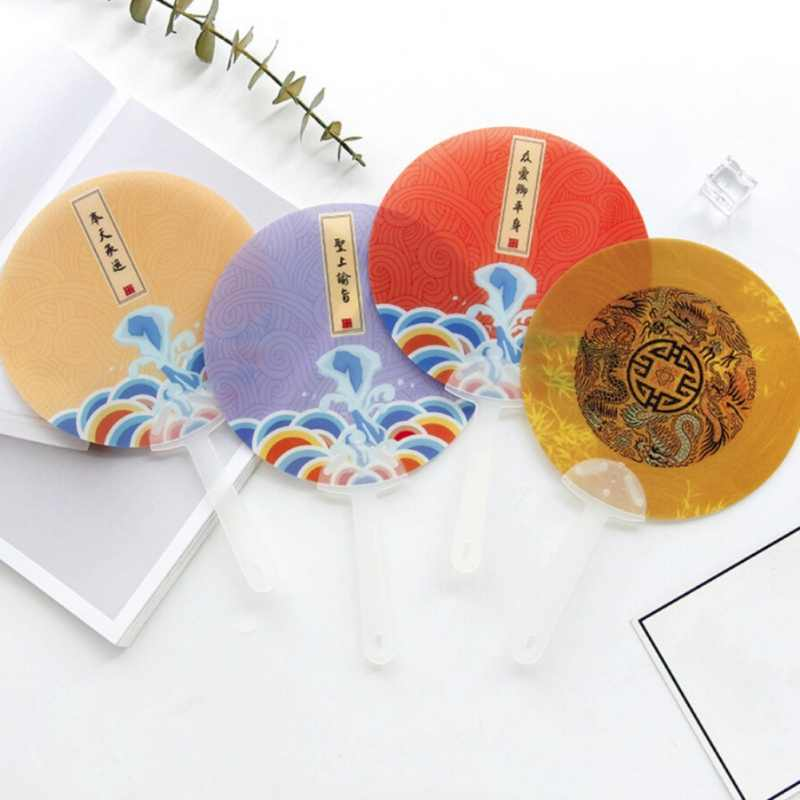 New Traditional Chinese Style Round Fan Portable Elegant Classic Hand Fan Home Decor Crafts Fans