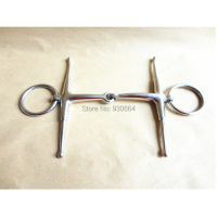 Stainless Steel Full Snaffle Horse Bit Quality Training Bit English Tack H0911