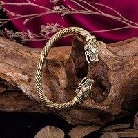 Viking Wolf Bracelets For Women Indian Jewelry Men Wristband Cuff Bracelets Bangles Teen Wolf Christmas Gifts