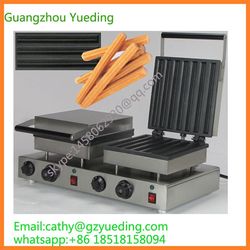 Electric churros making machine / Digital waffle churros maker with double head 12l electric automatic spain churros machine fried bread stick making machines spanish snacks latin fruit maker