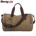 Мужчины сумка сумки старинные сплошной цвет холщовый мешок моды случайные сумка