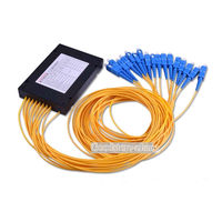 SC/UPC 1*16 PLC Fiber Optical Splitter SC/FC/ST/LC Connector PLC Splitter
