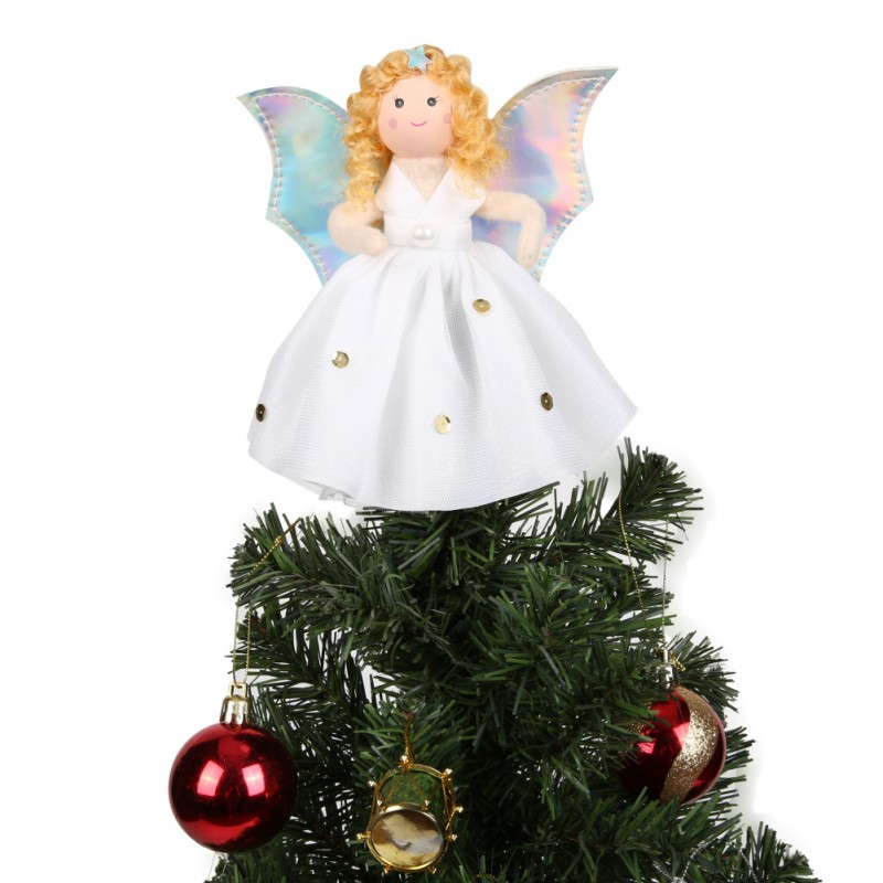 aytai small angel christmas tree topper 7 inch angel ornaments for mini christmas tree decoration home decorations - Mini Christmas Tree Topper