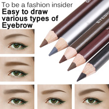 1pc Brown Black Eye Liner Waterproof Leopard Eyebrow Eyeliner Pencil Brush