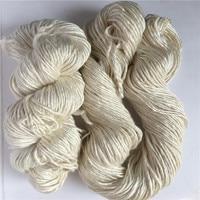 400g/lot 4pieces 100% silk yarn undyed silk yarn natural whit silk hand knitting yarn