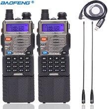 2 قطعة BAOFENG UV 5RE لاسلكي تخاطب 8 واط عالية الطاقة 3800 مللي أمبير بطارية 10 كجم طويلة المدى VHF/UHF 136 174 ميجا هرتز و 400 520 ميجا هرتز المزدوج الفرقة CB راديو