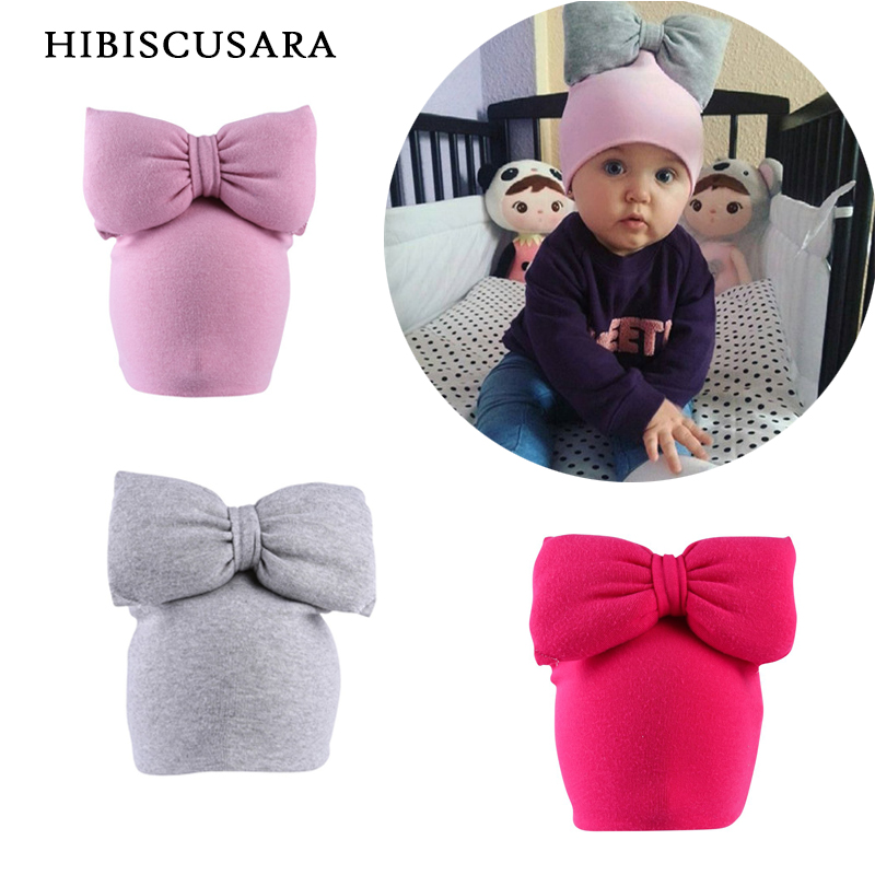 Winter Baby Hat 3D Big Bowknot Infant Girl Cotton Hat Novelty Bebe Caps Bonnet Children New Autumn Soft Beanie With Bow