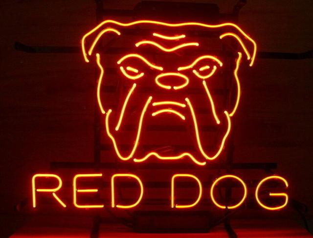 Custom Red Dog Neon Light Sign Beer Bar