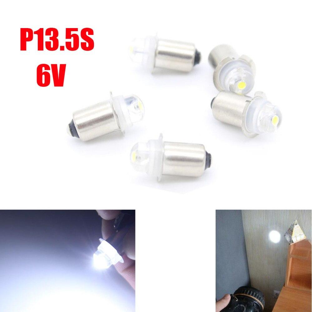Dongzhen 10шт П13.5С ПР2 6V Белый Светодиодные лампы высокой яркости фонарик замена лампы свет лампы авто автомобилей стайлинг