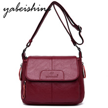 New Flap Messenger Bag Luxury Handbags Women Leather Bags sac a main High Quailty 2019 Shoulder Bags Tote Soft Crossbody bag