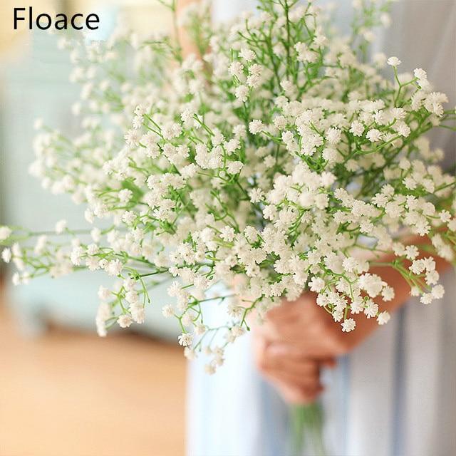 Wedding Decorative Flowers Artificial 11pc Baby Breath Flower Bridal Bouquet Home Party Decor