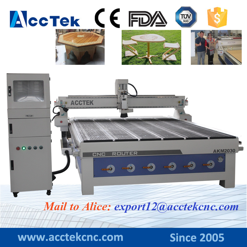 Mach3 Computer controlled wood router AKM2030 Vacuum bed woodworking cnc machines for sale