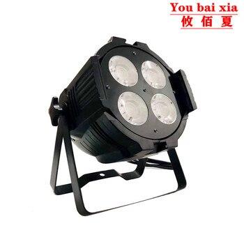 Горячий COB 4x50 Вт Par Led COB теплый белый, холодный белый Светодиодный прожектор DJ свет 4/8 Канал DMX сценическое Disso освещение для вечеринок и диско...