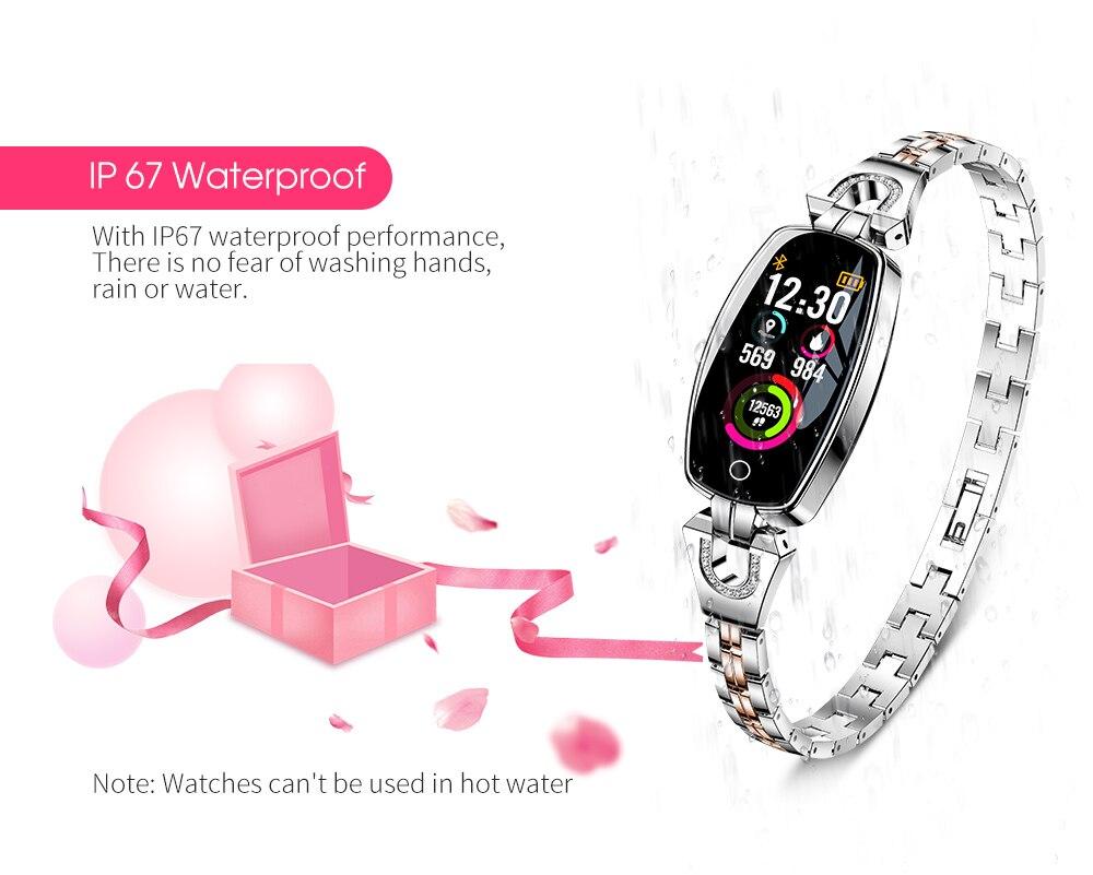 CYUC H8 women smart wristband fitness tracker bracelet Heart Rate Monitor blood pressure oxygen smart band best gift for Lady 8