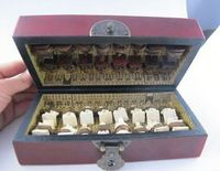 China Handmade Leather Wooden Chess 32 Traditional Games