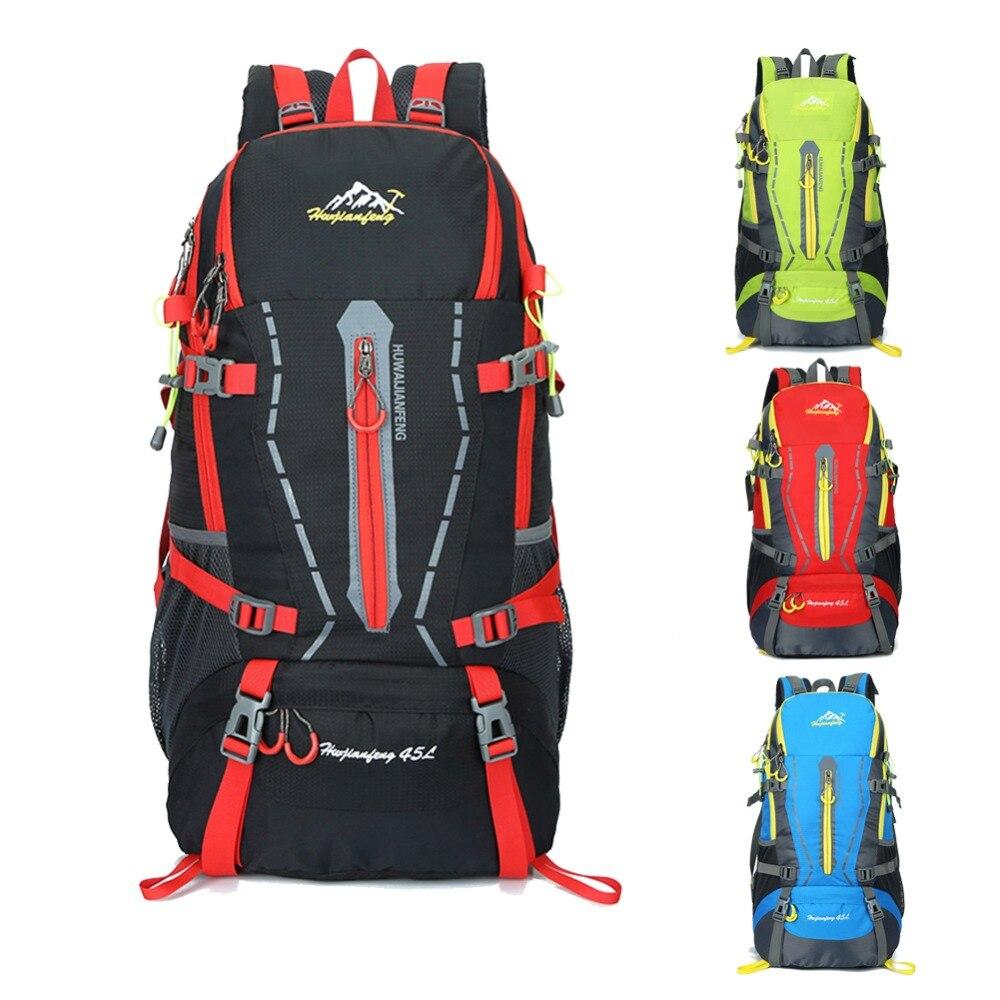 40L Waterproof Women&Men Travel Backpack Camping Climbing Hiking Soft Bagpack Leisure Back Bag Portable Lightweight Large Bags