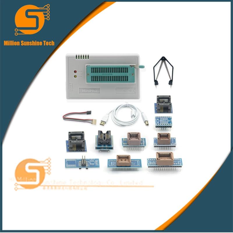 Sinstar original V8.33 TL866ii Plus programmeur + 10 adaptateurs minipro TL866 programmeur prise NAND programmeur adaptateur