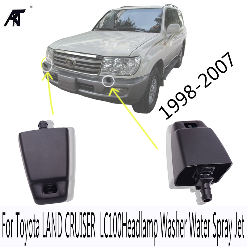 AKT Brand New Headlight Washer Nozzle Headlamp Washer Water Spray Jet For <font><b>Toyota</b></font> LAND CRUISER <font><b>100</b></font> 1998-2007 LC100 85044-60060 image