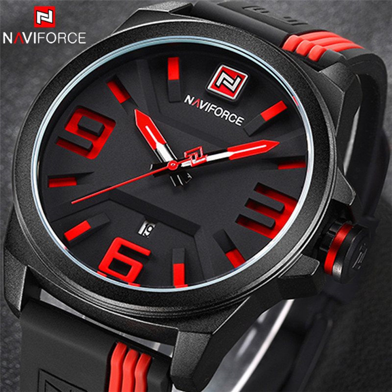 NAVIFORCE Watch Men Sport Quartz Watches Colorful Fashion Casual Watches Clearly See Analog Male Clock Relogio Masculino 9098