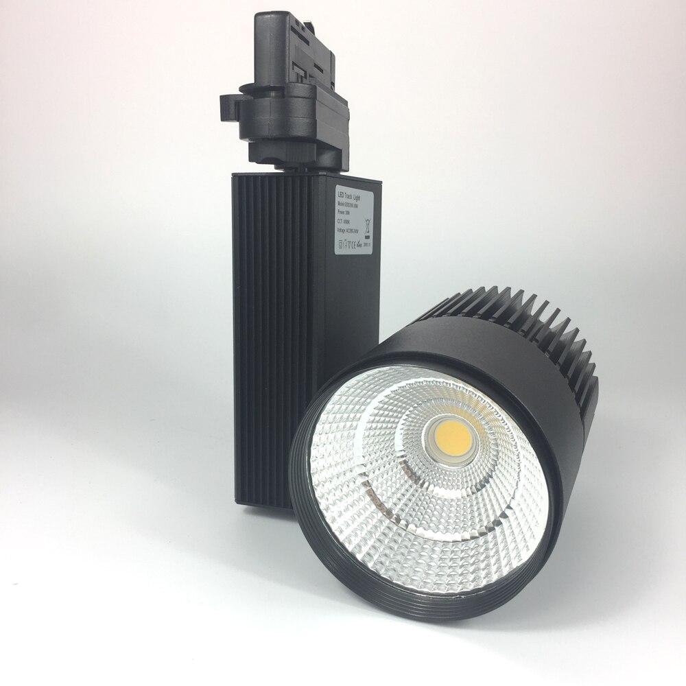 3 phases/4 fils 3 fils 2 fils Europe Stype LED lumière de voie 20 W 30 W Accent magasin de vêtements, 3000lm scintillement éclairage Commercial gratuit