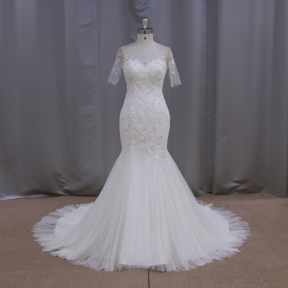 Sweetheart Wedding Dress With Cap Sleeves: New Arrival 2016 Elegant Mermaid Sweetheart Neckline