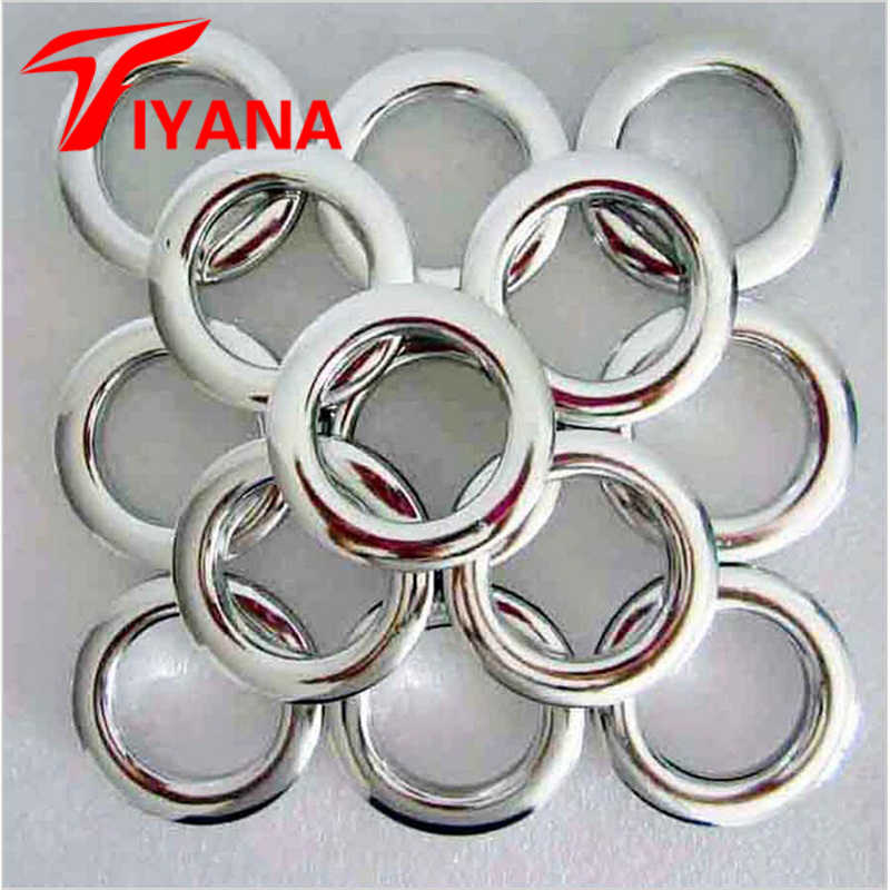 747f19e17fb08e 80PCS  LOT High Quality Home Decoration Curtain Accessories Plastic Rings  Eyelets For Curtains Grommet Top