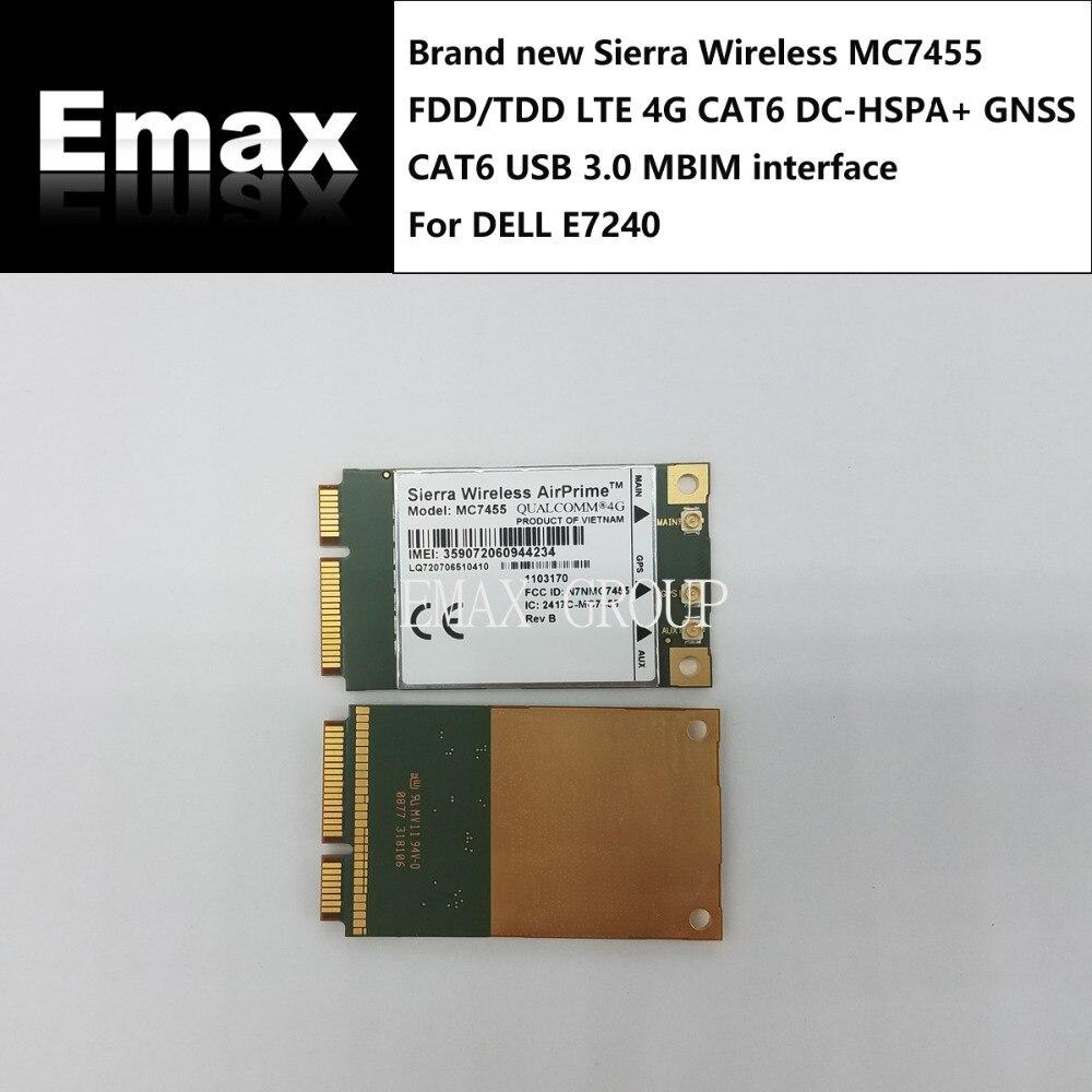 MC7455 Sierra Wireless FDD TDD LTE 4G CAT6 DC HSPA GNSS WWAN Card USB 3 0