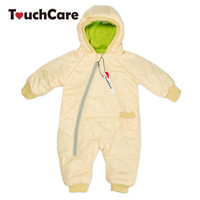 Winter Warm Cotton Thick Baby Boy Girl Romper Newborn Cute Candy Color Soft Long Sleeve Hooded