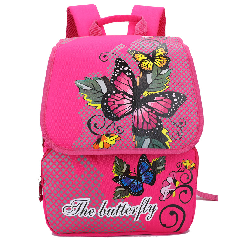 1 3 Grade Children school Bags for Girls Butterfly Floral Orthopedic Breathable Backpacks Child School Bag