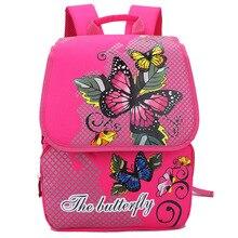 1-3 Grade Kinder schultaschen für Mädchen Schmetterling Floral Orthopädische Atmungs Rucksäcke Kind Schultasche Mochila Escolar