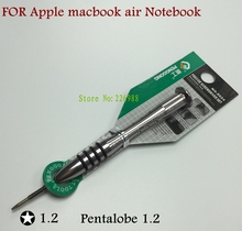 precision screw driver 5 Point Star Pentalobe 1.2 Torx screwdriver for Apple macbook air notebook Special