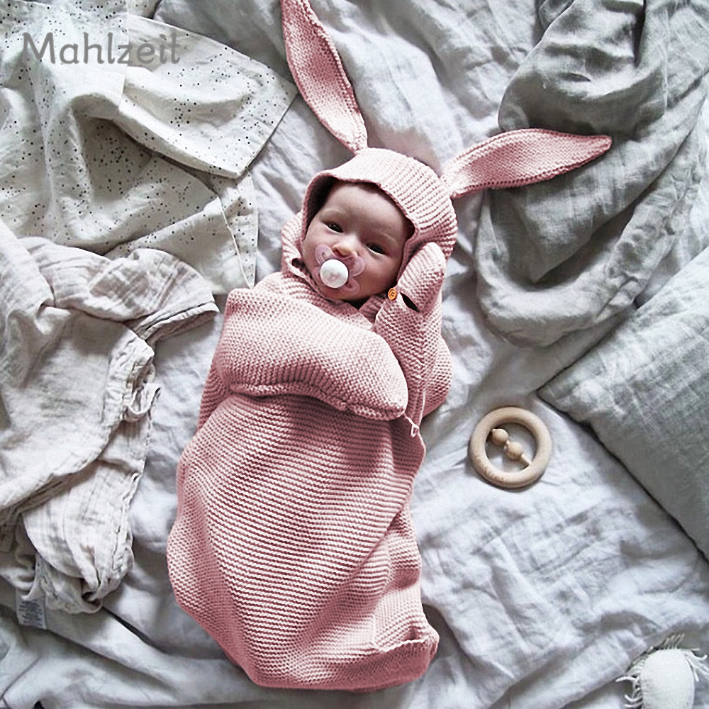 2bcd715b4fc1a US $20.8 |Baby Winter thickening cute rabbit bunting bag newborn infant  knitting receiving blanket Super soft bunting bag for 0 1T baby-in  Receiving ...