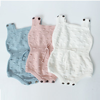 2017 Spring Baby Knitted Rompers Cute Newborn Baby Boy Girl Clothes Overalls Kids Knitted Jumpsuits Newborn