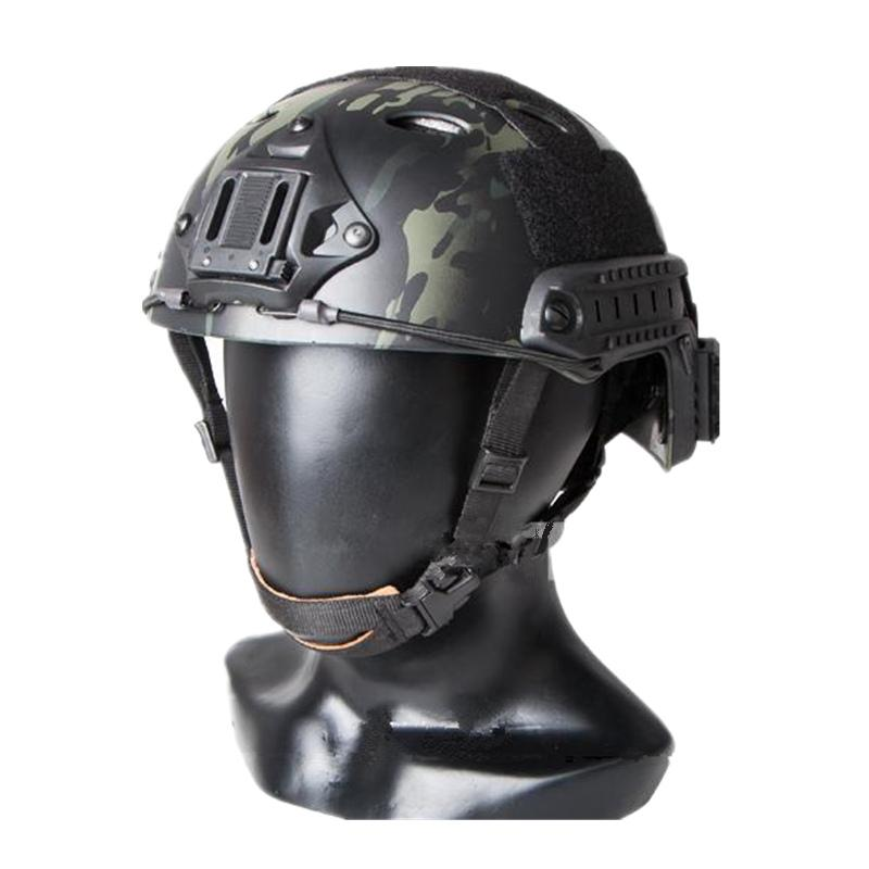 Tactical FAST Helmet PJ TYPE Sports Helmet For Airsoft Paintball ABS Cycling Helmet Multicam Black Size M L