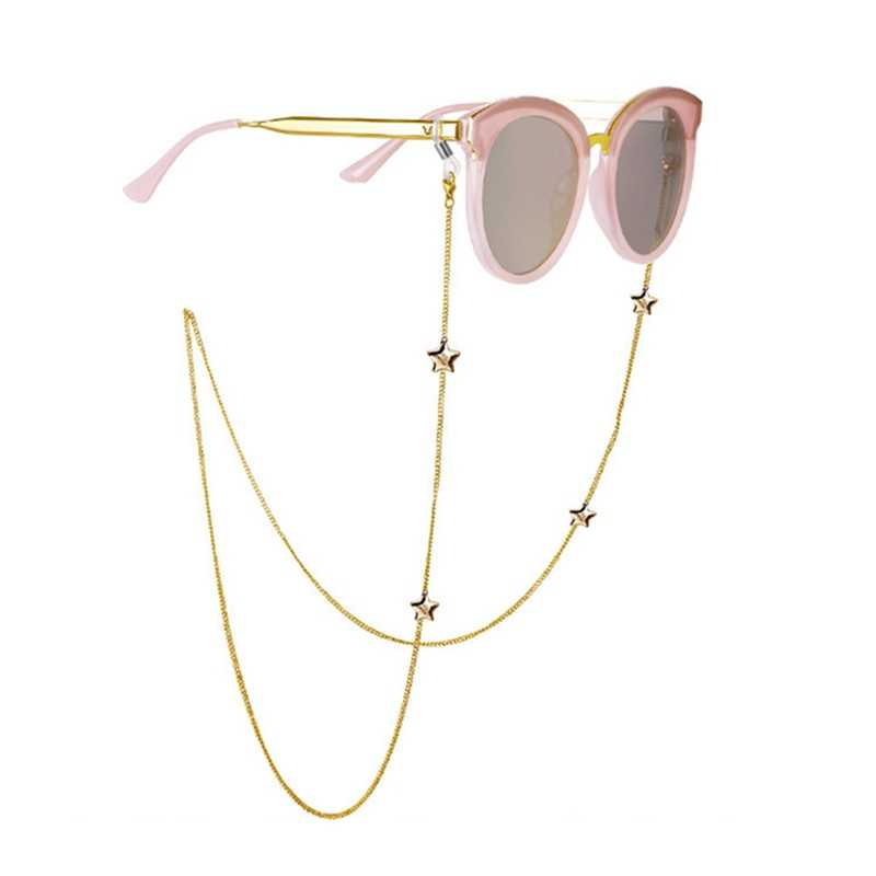 New Fashion Womens Penadant Eyeglass Chains Hollow Star Sunglasses Reading Glasses Chain Eyewears Cord Holder Neck Strap Rope