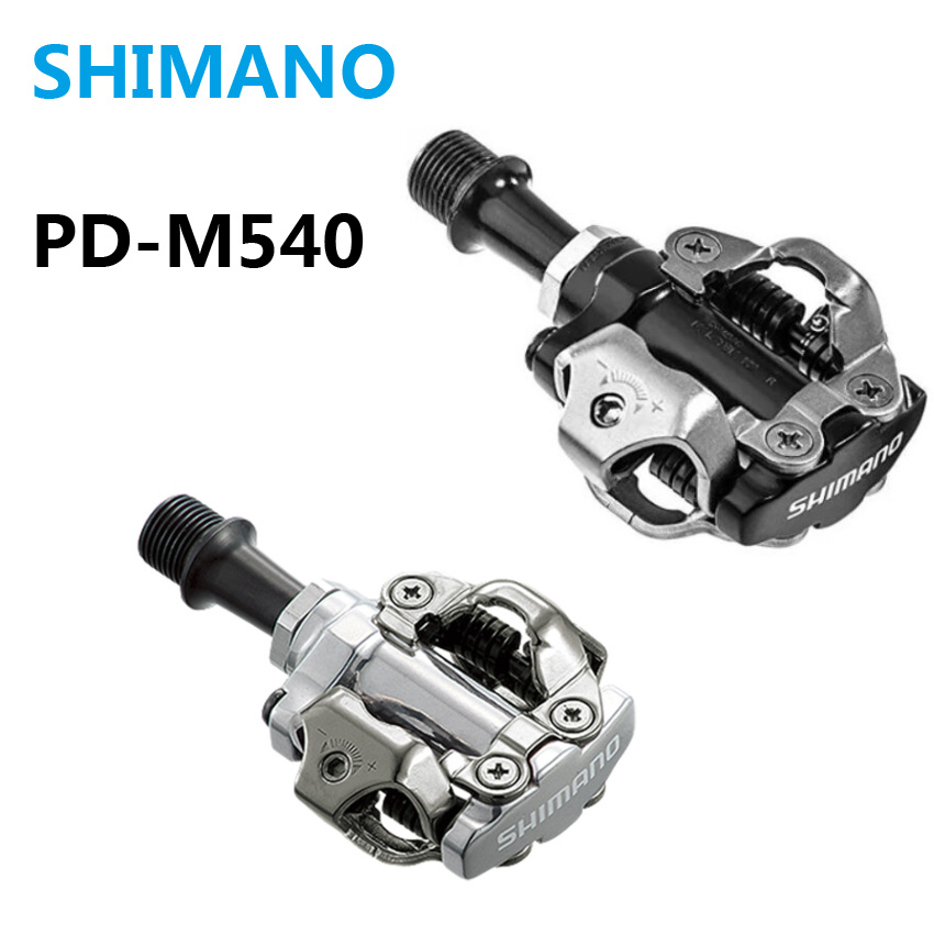 все цены на Shimano PD-M540 Bike pedals Self-Locking SPD M540 Racing Mountain MTB Bicycle pedals M540 Cleats Trail Clipless bicicleta Parts онлайн