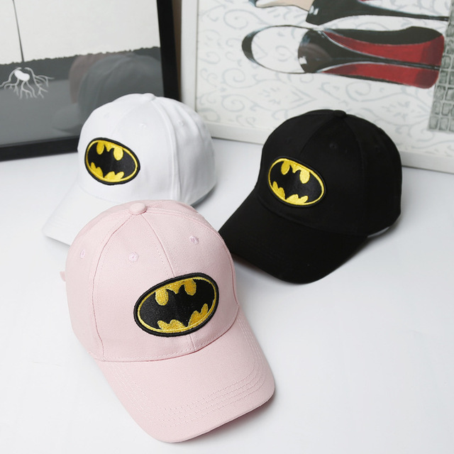 bb354567b 2017 Summer Fashion Children Boys Cotton Batman Baseball Cap Hat Baby Girls  Cartoon Embroidery Snapback Caps Kids Casual Sun Hat