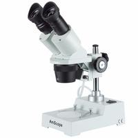 Sharp Forward Stereo Microscope AmScope Supplies Sharp Forward Stereo Microscope 20X 40X SKU: SE304R P