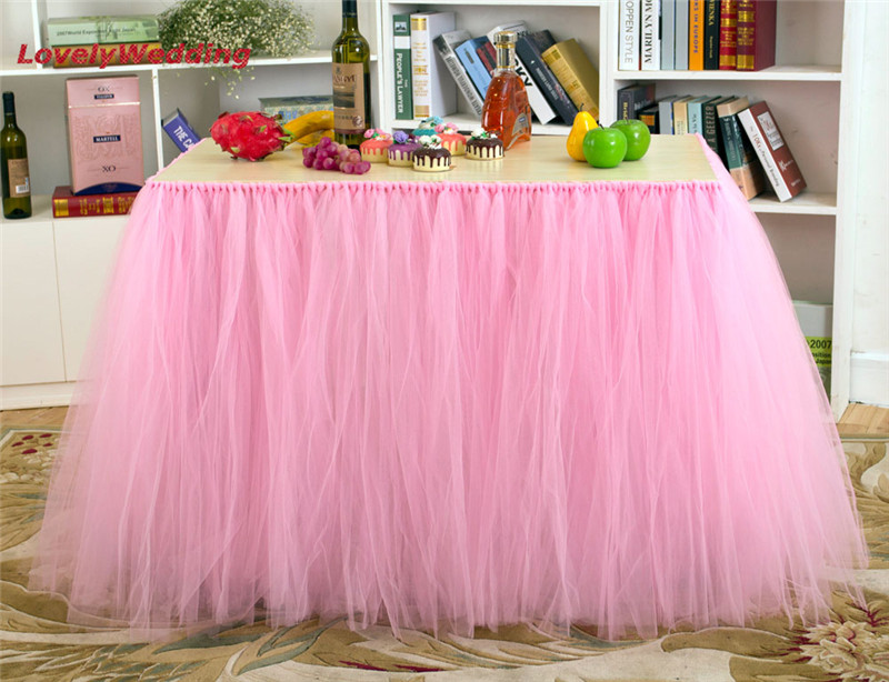font b Customized b font Table Skirts for font b Wedding b font Decoration Tulle