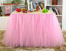 Customized Table Skirts for Wedding Decoration Tulle Tutu Table Skirt Wedding Favors Party Decoration Home Textile