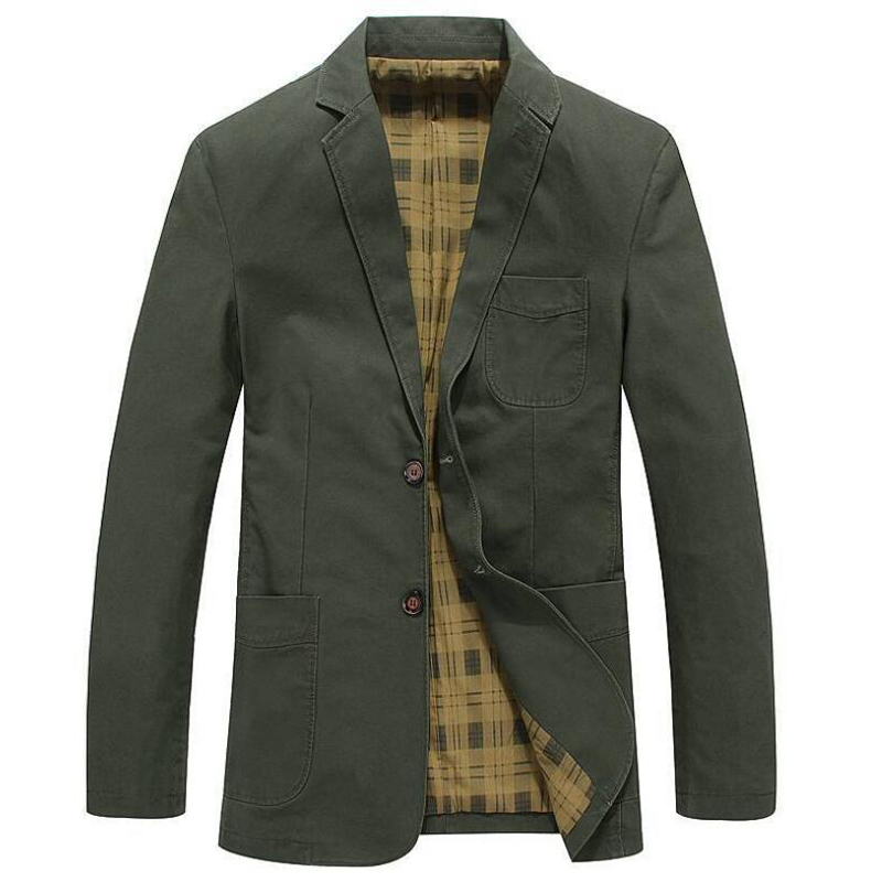 2019 جاكت للربيع الرجال العلامة التجارية الملابس الأعمال عارضة القطن بدوره إلى أسفل طوق سترة معطف الذكور chaqueta hombre سترة-في جواكت من ملابس الرجال على  مجموعة 1