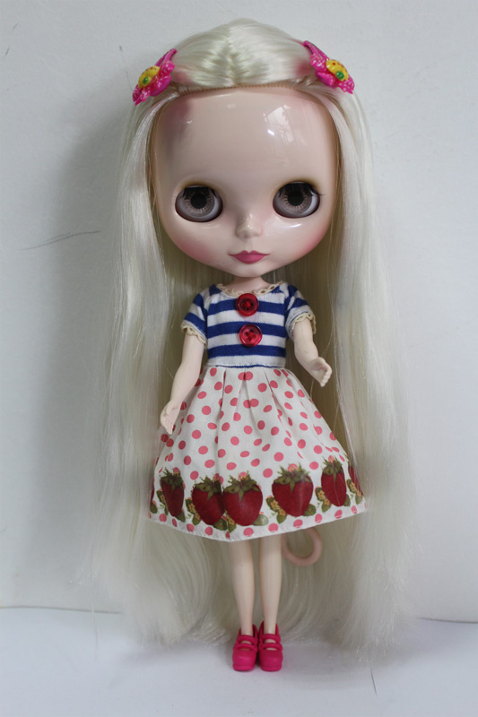 Free Shipping big discount RBL-147DIY Nude Blyth doll birthday gift for girl 4colour big eyes dolls with beautiful Hair cute toy