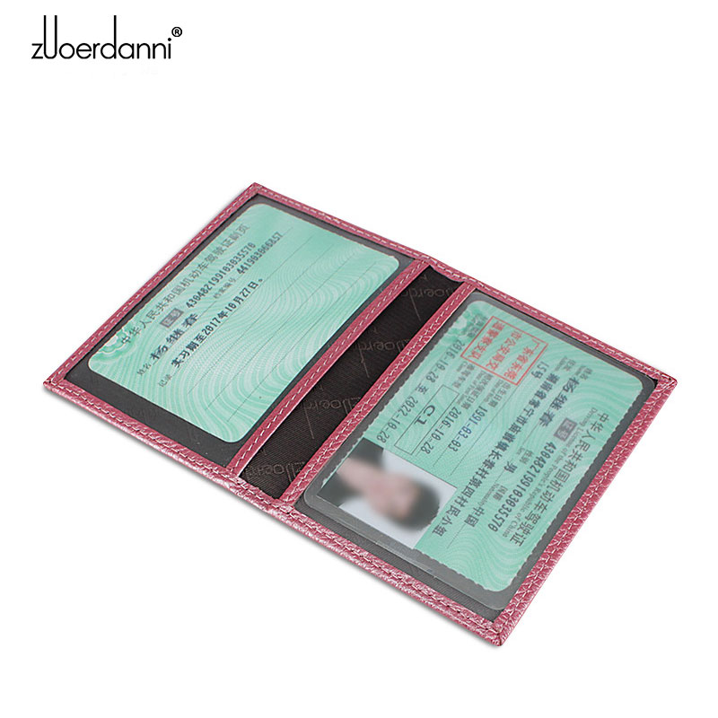 Genuine Leather card bags Ultra thin driver 39 s license Card Holder Mini wallet small card sets driving license Card Case in Wallets from Luggage amp Bags
