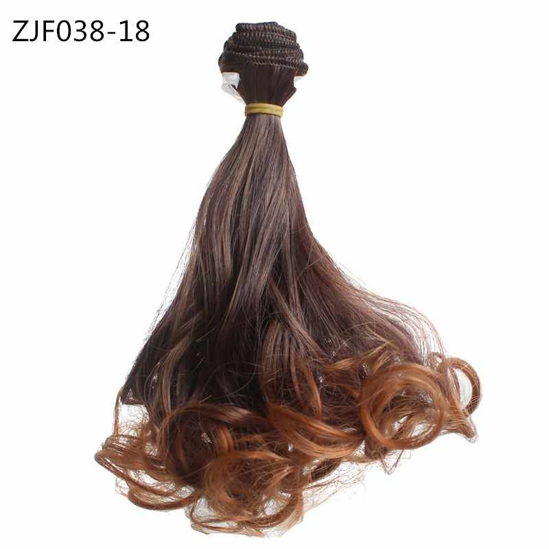 15*100cm BJD Big Wave Russian Handmade Hair for Dolls Accessories for Doll Kids Children Toys Gift Wigs High-temperature Wire