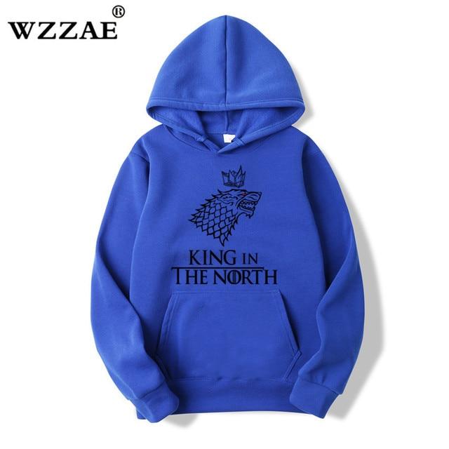 Game of Thrones Wolf hoodies Poleron Hombre Fashion Streetwear Cotton Sweatshirt Pullover Men women Hoodie Sweat mens Hoodies 5