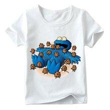 Baby Boys Girls Sesame Street Cookie Monster Print T Shirt